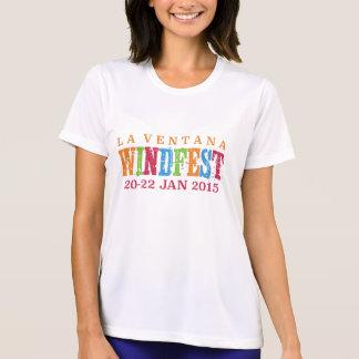 2015年のLaのVentana WindFestの女性のスポーツTek Tシャツ