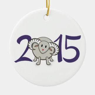 2015年間のヒツジまたはヤギまたはラムのオーナメント セラミックオーナメント