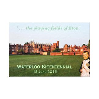 、2015年6月二百年毎、ウォータールー「Etonの分野 キャンバスプリント