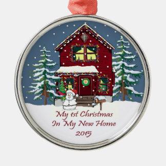 2015私の新しい家の私の初めてのクリスマス メタルオーナメント