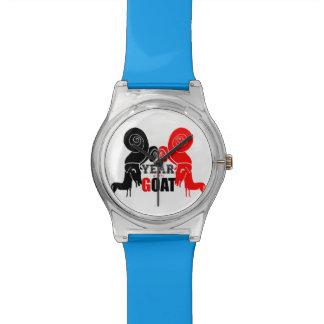 2015頭のラムのヒツジのヤギ年- May28thの腕時計 腕時計
