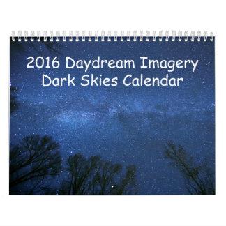 2016の空想のイメージの暗い空のカレンダー カレンダー