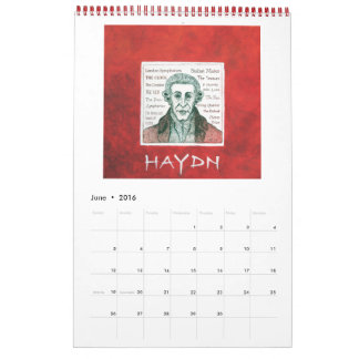 2016カレンダー-クラシカルなピアノ作曲家 カレンダー