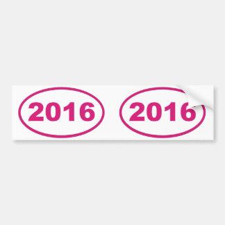 2016ピンクのマゼンタ バンパーステッカー