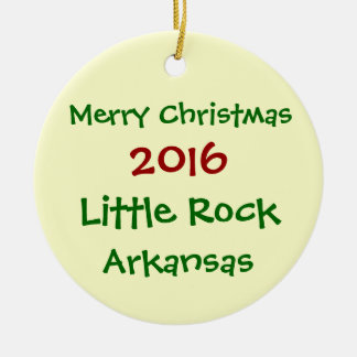 2016リトルロックのアーカンソーのメリークリスマスのオーナメント セラミックオーナメント