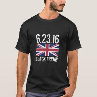 2016人のヨーロッパ人の国民投票の黒金曜日 Tシャツ