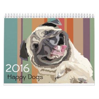 2016匹の幸せな犬 カレンダー
