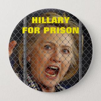 2016年に刑務所のためのヒラリー・クリントン 10.2CM 丸型バッジ