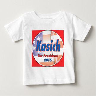 2016年に大統領のためのジョンKasich ベビーTシャツ