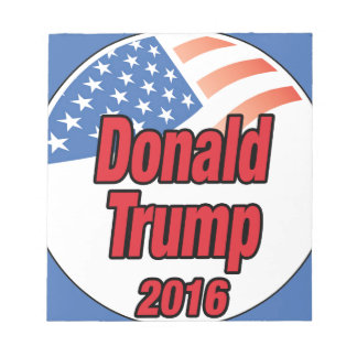 2016年に大統領のためのドナルド・トランプ ノートパッド