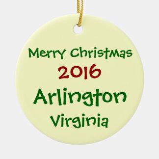 2016年のアーリントンヴァージニアのメリークリスマスのオーナメント セラミックオーナメント