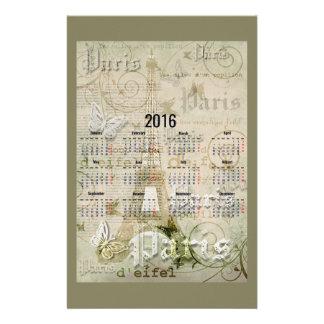 2016年のエッフェル塔のパリの新年のギフト 便箋