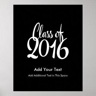 2016年のエレガントなレトロの卒業のクラス ポスター
