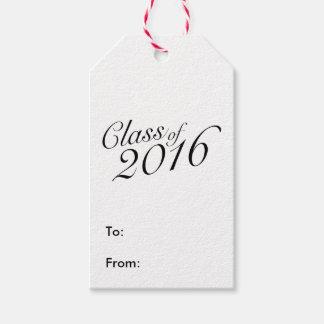 2016年のエレガントなヴィンテージのスタイルの卒業のクラス ギフトタグ