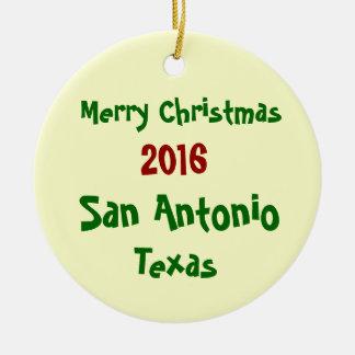 2016年のサン・アントニオテキサス州のメリークリスマスのオーナメント セラミックオーナメント