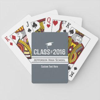 2016年のスポーティな準備のストライプの卒業の帽子のクラス トランプ