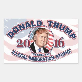 2016年のドナルドJ. Trump Stopの不法移民 長方形シール