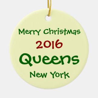 2016年のニューヨークの女王のメリークリスマスのオーナメント セラミックオーナメント