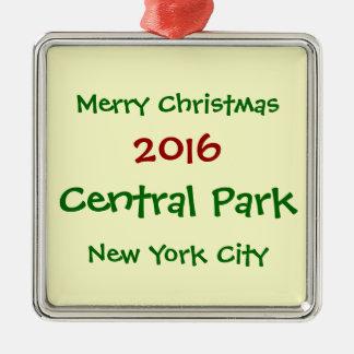 2016年のニューヨークシティセントラル・パークのクリスマスのオーナメント メタルオーナメント