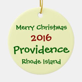 2016年のプロヴィデンスロードアイランドのクリスマスのオーナメント セラミックオーナメント