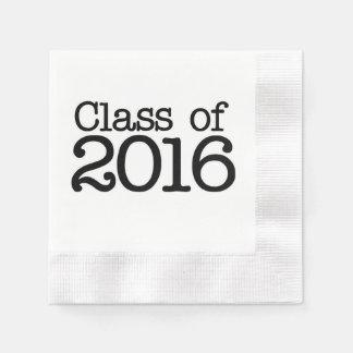 2016年の卒業パーティーのクラス 縁ありカクテルナプキン