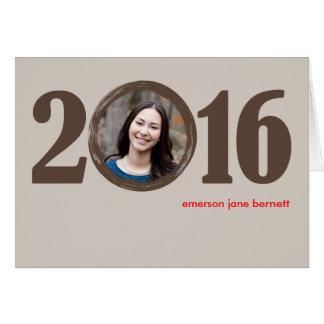 2016年の卒業Notecard カード