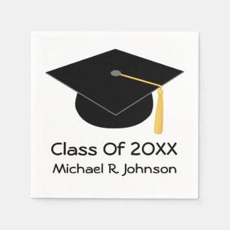 2016年の名前入りな卒業のナプキンのクラス スタンダードカクテルナプキン