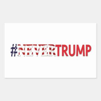 2016年の大統領選挙は決して#nevertrumpを切札で取りません 長方形シール