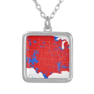 2016年の大統領選挙-郡水平な結果 シルバープレートネックレス
