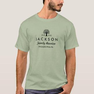 2016年の家族会の木の暗いレタリングのTシャツ Tシャツ