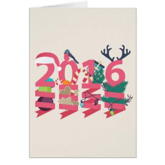 2016年の年賀状 グリーティングカード