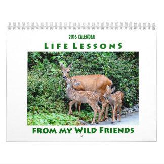2016年の生命レッスン動物のカレンダー カレンダー