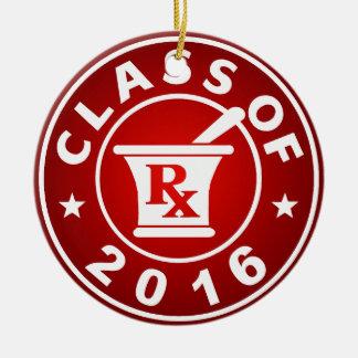 2016年の薬学のクラス セラミックオーナメント