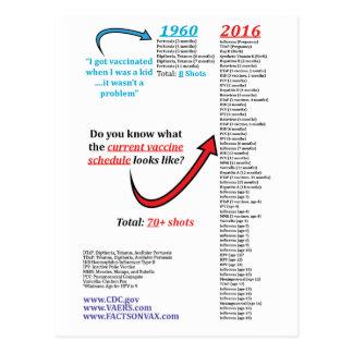 2016年のCDCの自閉症のワクチン接種のスケジュールの打撃の免疫 ポストカード