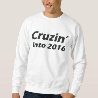 2016年へのCruzin -白黒 スウェットシャツ