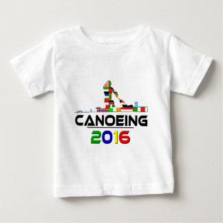 2016年: カヌーをこぐこと ベビーTシャツ