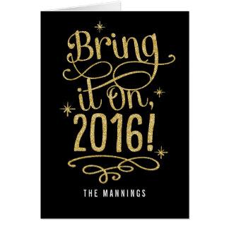 2016幸せな年賀状のそれを持って来て下さい グリーティングカード