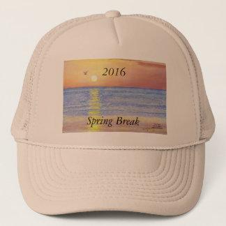 2016春休みの日没のカモメのトラック運転手の帽子 キャップ