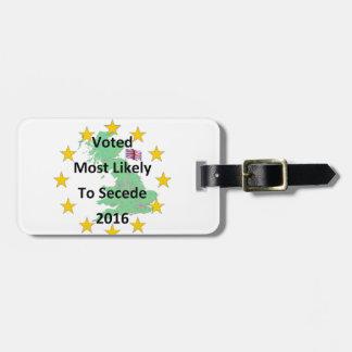 2016白を脱退させるために多分投票されるイギリス ラゲッジタグ
