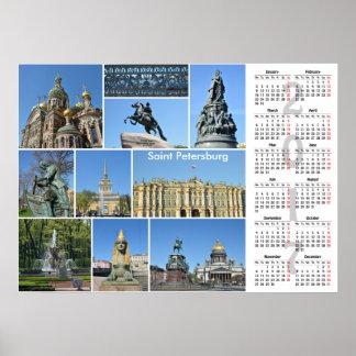 2017のカレンダーのセント・ピーターズバーグポスター ポスター