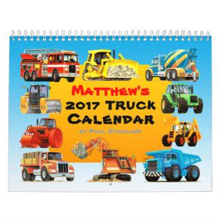 2017の巨人の建築のトラックのカレンダー カレンダー