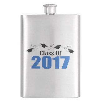 2017の帽子および免状のクラス(青い) フラスク