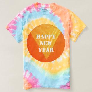 2017の幸せなNEWYEARの絞り染めのTシャツ2色のスタイル Tシャツ