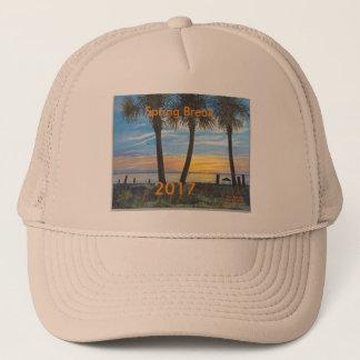 2017の春休みの海のヤシの木のトラック運転手の帽子 キャップ
