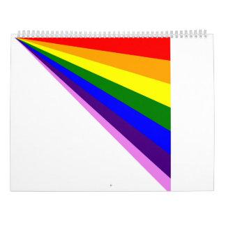 2017の線形虹のカレンダー カレンダー