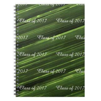 2017エメラルドグリーンの金属のカスタマイズ可能なクラス ノートブック