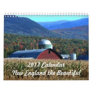2017カレンダーニューイングランド美しいの カレンダー