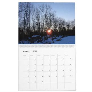 2017カレンダー- Traciヨーク著ニューハンプシャーの自然 カレンダー