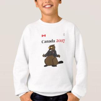 2017クールなビーバーのカナダ150 スウェットシャツ