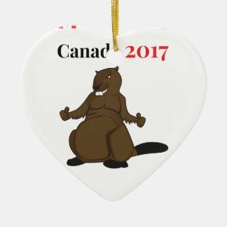 2017ビーバーのカナダ150 セラミックオーナメント